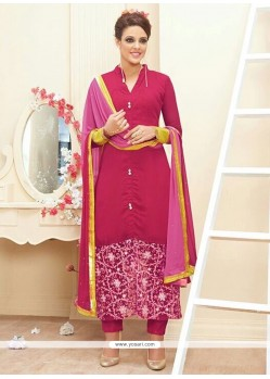 Enthralling Magenta Georgette Pant Style Suit