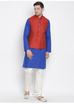 Royal Blue Cotton Kurta Pajama For Men