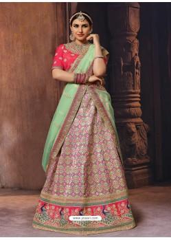 Multi Colour Heavy Embroidered Wedding Lehenga Choli