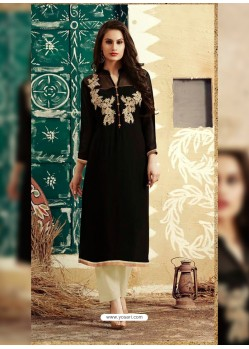 Black Designer Party Wear Georgette Kurti