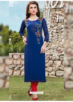 Navy Blue Designer Party Wear Georgette Kurti