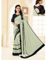 Taupe Fancy Designer Party Wear Lycra Sari