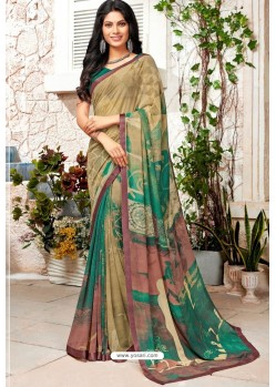 Multi Colour Designer Casual Wear Georgette Sari