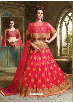 Tomato Red Cape Patterned Heavy Designer Lehenga Choli