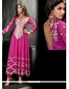 Ombre Hot Pink Georgette Anarkali Suit