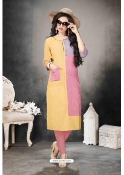 Multi Colour Designer Party Wear Heavy Khadi Cotton Kurti
