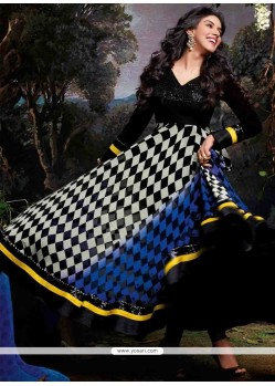 Asin Black And White Georgette Anarkali Suit