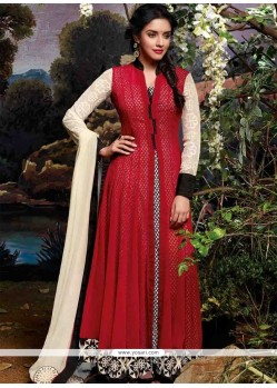 Asin Maroon Cotton Anarkali Suit