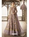 Mauve Heavy Embroidered Front Cut Designer Anarkali Suit