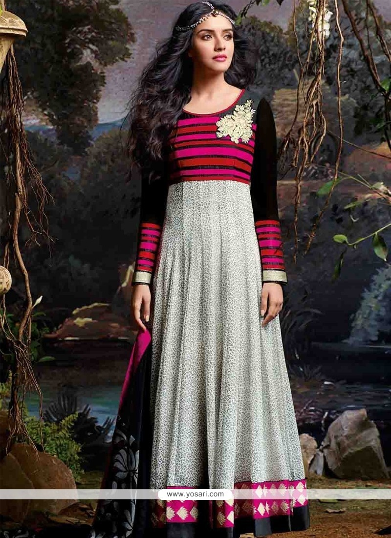 Asin Grey Georgette Anarkali Suit