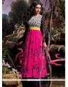 Asin Magenta Printed Anarkali Suit