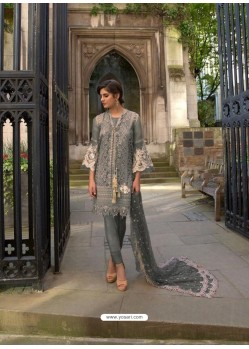 Grey Heavy Embroidered Designer Palazzo Suit