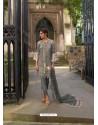 Grey Heavy Embroidered Designer Palazzo Suit