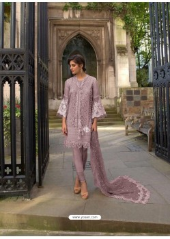 Mauve Heavy Embroidered Designer Palazzo Suit
