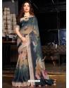 Multi Colour Designer Casual Wear Cotton Linen Sari