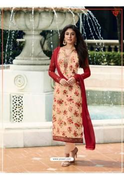 Light Orange Monsoon Special Designer Churidar Salwar Suit