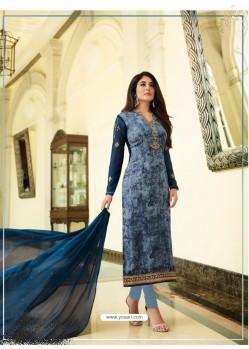 Teal Blue Monsoon Special Designer Churidar Salwar Suit