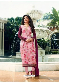 Pink Monsoon Special Designer Churidar Salwar Suit