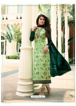 Green Monsoon Special Designer Churidar Salwar Suit