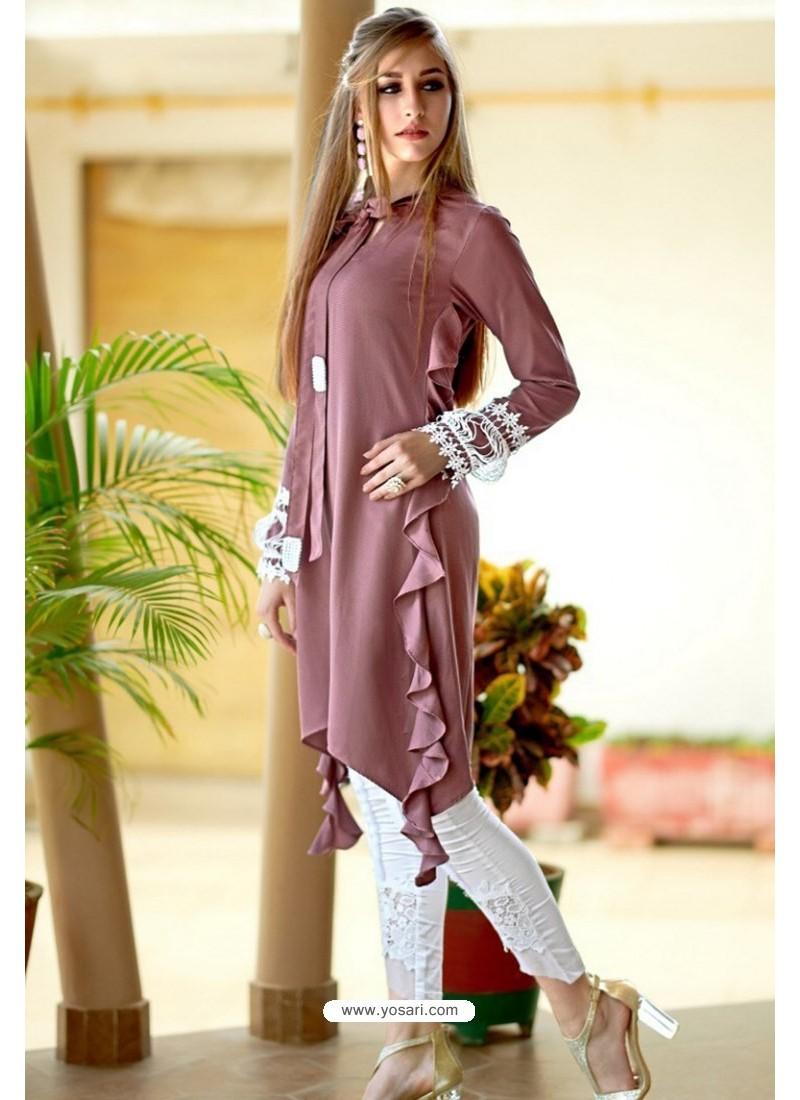 Buy Dusty Pink Designer Casual Wear