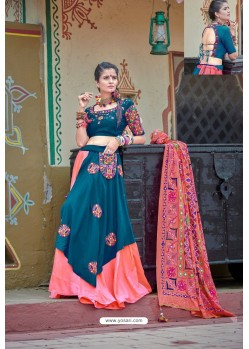 Teal Blue Designer Ethnic Wear Navratri Ras Special Lehenga Choli