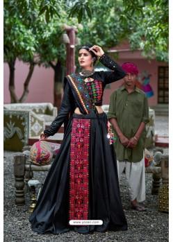 Black Designer Ethnic Wear Navratri Ras Special Lehenga Choli