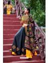 Yellow And Black Designer Ethnic Wear Navratri Ras Special Lehenga Choli