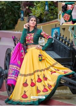 Yellow Designer Ethnic Wear Rajasthani Style Lehenga Choli