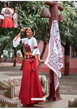 Crimson Designer Ethnic Wear Rajasthani Style Lehenga Choli