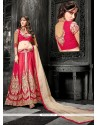 Flashy Red Silk Wedding Lehenga Choli