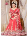 Exquisite Red Raw Silk Wedding Lehenga Choli
