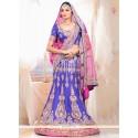 Pleasant Blue Raw Silk Designer Lehenga Choli