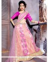 Customary Net Patch Border Work A Line Lehenga Choli