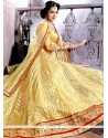 Awesome Zari Work Net A Line Lehenga Choli