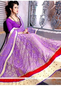 Amusing Net Embroidered Work A Line Lehenga Choli