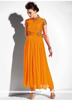 Mustard Georgette Anarkali Salwar Suit