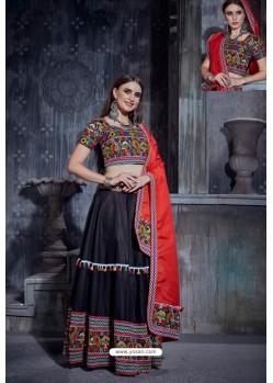 Black Designer Ethnic Wear Rajwadi Style Lehenga Choli
