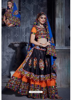 Orange Designer Ethnic Wear Rajwadi Style Lehenga Choli