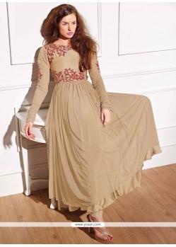 Mesmeric Georgette Beige Anarkali Salwar Suit