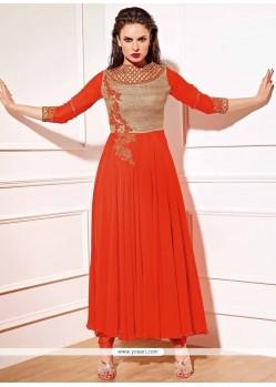 Baronial Georgette Resham Work Anarkali Salwar Kameez