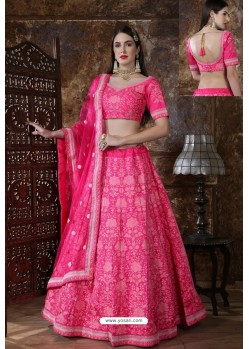 Hot Pink Designer Festival Wear Lehenga Choli