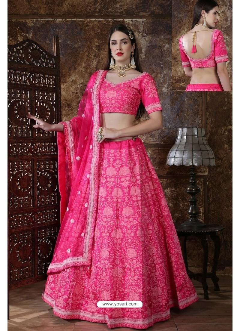 Hot Pink Designer Festival Wear Lehenga Choli