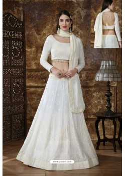 Off White Designer Festival Wear Lehenga Choli