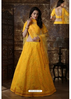 Yellow Designer Festival Wear Lehenga Choli