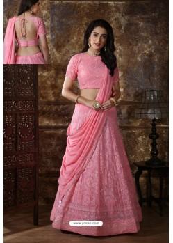 Pink Designer Festival Wear Lehenga Choli