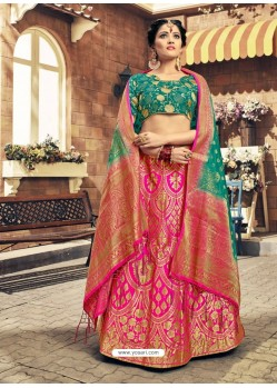 Rani Designer Fancy Wear Banarasi Silk Lehenga Choli