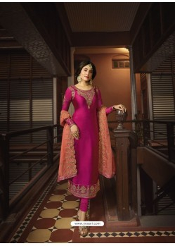 Rani Designer Heavy Satin Georgette Salwar Suit