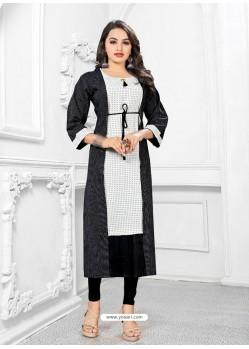Off White Readymade Designer Casual Wear Kurti