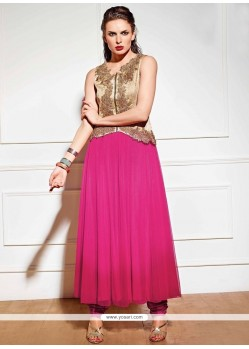 Modern Zari Work Anarkali Suit