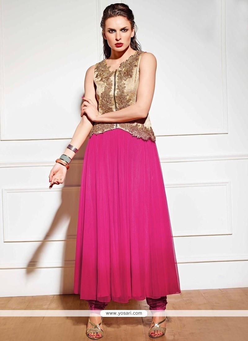 Modern Zari Work Anarkali Suit